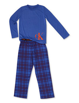 Big Boys 2 Pc. Terry Pajama Set by Calvin Klein