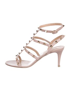 Leather Rockstud Sandals by Valentino