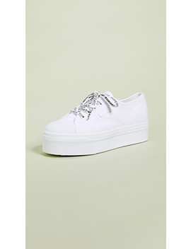 White Out Package Platform Sneakers by Superga