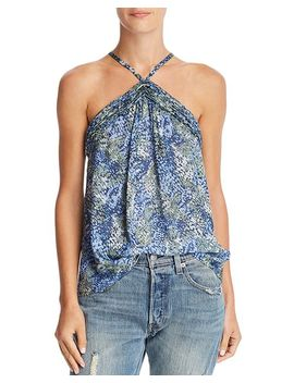 Billie Printed Silk Top by Ramy Brook