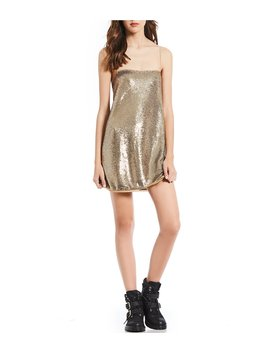 Time To Shine Sequin Mini Slip Dress by Free People