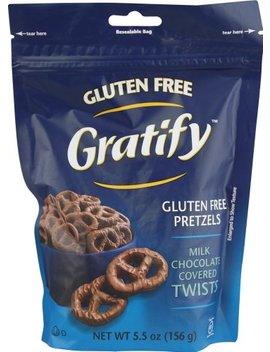 Gratify Gluten Free Milk Chocolate Covered Pretzel Twists, 5.5 Ounce   8 Per Case. by Gratify