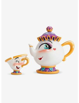 Disney Beauty And The Beast The World Of Miss Mindy Mrs. Potts & Chip Figures by Hot Topic