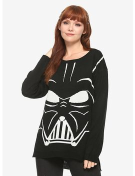 Her Universe Star Wars Darth Vader Intarsia Girls Sweater by Hot Topic