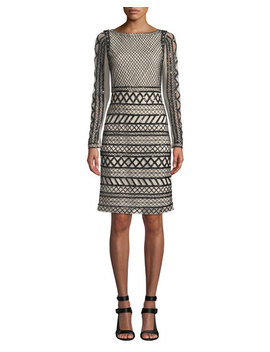 Tabitha Embellished Fitted Dress by Alice + Olivia