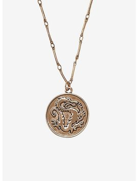 Disney Mulan Dragon Medallion Necklace by Hot Topic