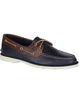 Men's Leeward Cross Lace Boat Shoe by Sperry