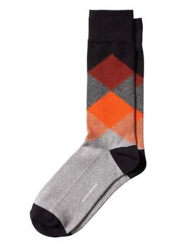 Argyle Micro Stripe Sock by Banana Repbulic