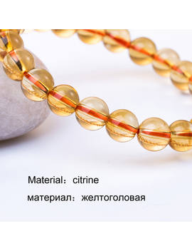 6 10mm Bright Citrine Bracelet Citrine Beads Natural Stone Bracelet Buddha Charms Men's Bracelets Bangles Jewelry Gift For Men  by Jeworryou