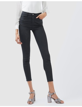 Moto Let Hem Coated Jamie Jeans by Topshop