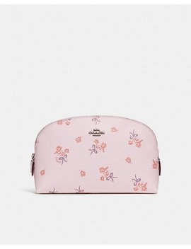 Cosmetic Case 22 With Floral Bow Print by Coach