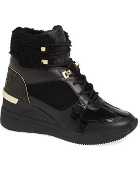 Scout Genuine Shearling Trim Wedge Bootie by Michael Michael Kors