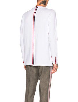 Pique Classic Long Sleeve Tee by Thom Browne
