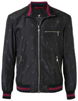 Striped Hem Bomber Jacket by Loveless