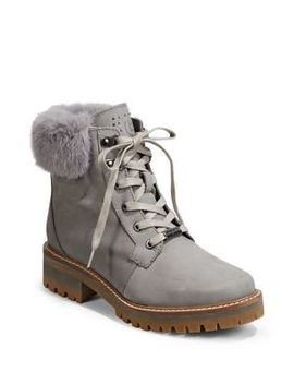 Faux Fur Trimmed Suede Boots by Bugatti