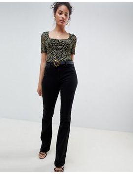 Miss Selfridge Skinny Flare Jean In Black by Miss Selfridge