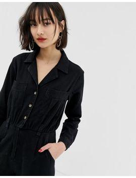 Asos Design Denim Tailored Boilersuit In Washed Black by Asos Design
