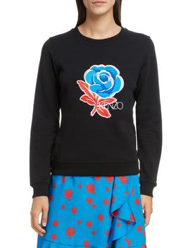 Floral Embroidered Sweatshirt by Kenzo