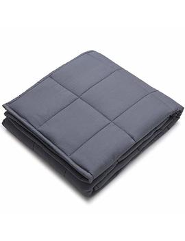 Yn M Weighted Blanket For Couple, 25 Lbs 80''x87'' King Size   100 Percents Cotton Material With Glass Beads A Dark Grey Premium Cotton Duvet Cover by Amazon