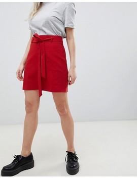 Asos Design Petite Tailored Mini Skirt With Obi Tie by Asos Design