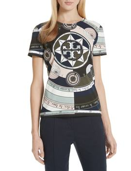 Logo Print Tee by Tory Burch
