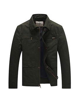 Wen Ven Men's Casual Outdoor Sportswear Military Jacket by Wen Ven