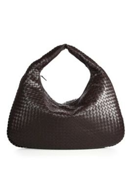Veneta Large Leather Hobo Bag by Bottega Veneta