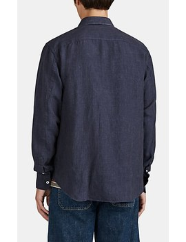 Rope Detail Linen Plain Weave Shirt by Loewe