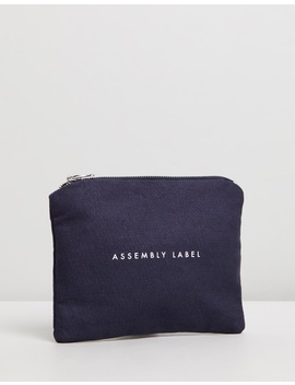 Logo Linen Pouch by Assembly Label