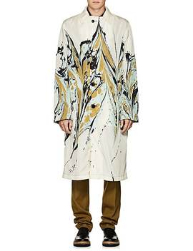 Marble Print Trench Coat by Dries Van Noten