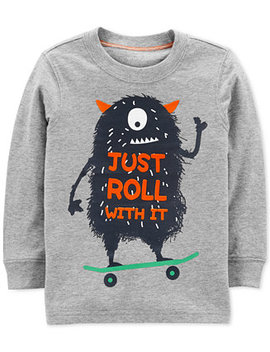 Baby Boys Monster Print Cotton T Shirt by Carter's