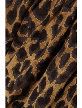 Fauve Leopard Print Cotton Voile Camisole by Mes Demoiselles