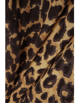 Fatal Leopard Print Cotton Voile Pants by Mes Demoiselles
