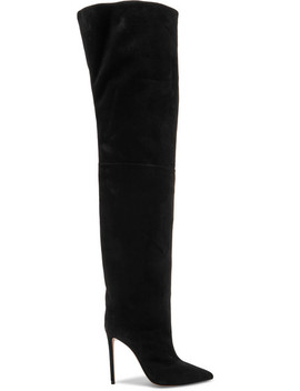 Alex Suede Thigh Boots by Alexandre Vauthier