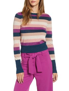 Metallic Stripe Sweater by Leith
