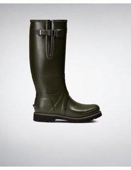 "<Span Itemprop=""Name"">Men's Balmoral 3mm Neoprene Side Adjustable Commando Boots</Span>:                     <Span>Dark Olive</Span> by Hunter"