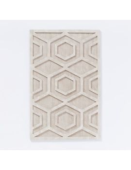 Graphic Wood Wall Art, Whitewashed, Hexagon, Individual by West Elm