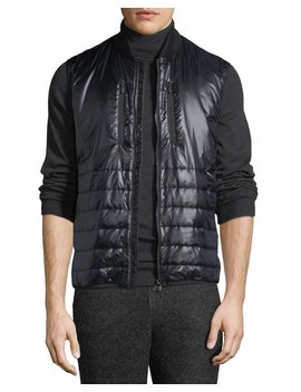 Men's Quilted Zip Front Vest by Z Zegna