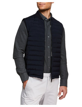 Men's Light Padding Microfiber Vest by Ermenegildo Zegna