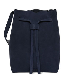 Drawstring Suede Hobo Bag by Mansur Gavriel