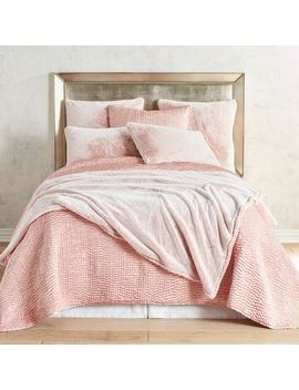 Faux Fur Lynx Blush Blanket & Sham by Pier1 Imports
