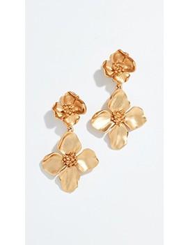 Flower Drop Earrings by Oscar De La Renta
