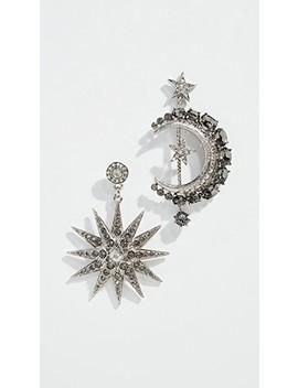 Moon & Stars Earrings by Oscar De La Renta