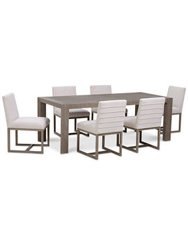 Closeout! Astor Dining Furniture Set, 7 Pc. Set (Dining Table & 6 Side Chairs) by Closeout! Astor Dining Furniture Collection