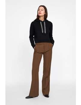 Stricksweatshirt Mit Glitzerstreifen  Pullover Strickwaren Damen by Zara