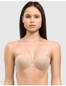 Sculpted Light Lined Strapless Bra by Calvin Klein