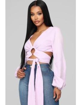 Bobbie Top   Lavender by Fashion Nova