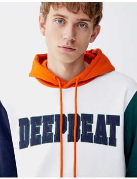 Hoodie With Appliqué Slogan by Pull & Bear
