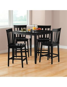Mainstays 5 Piece Mission Counter Height Dining Set by Mainstays