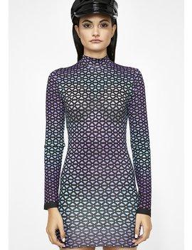 Geometric Thoughts Mini Dress by Banjul